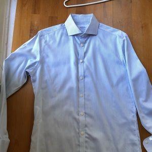 Men's Charles Trywitt Dress Shirt Navy Stripe